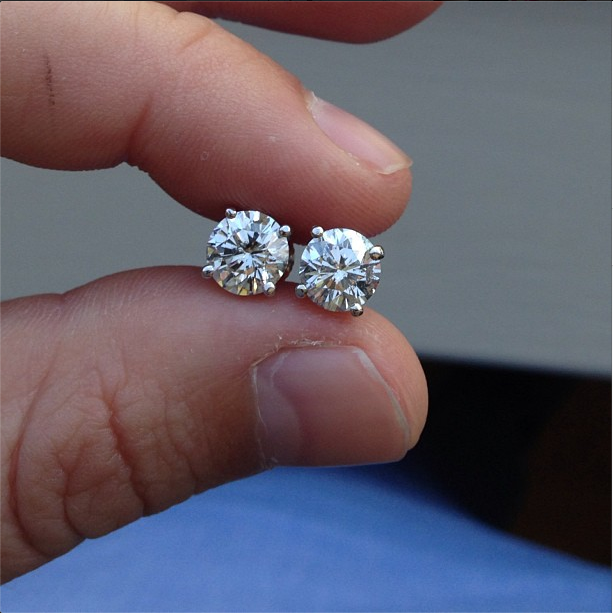 07 03 13 Diamond Stud Earrings