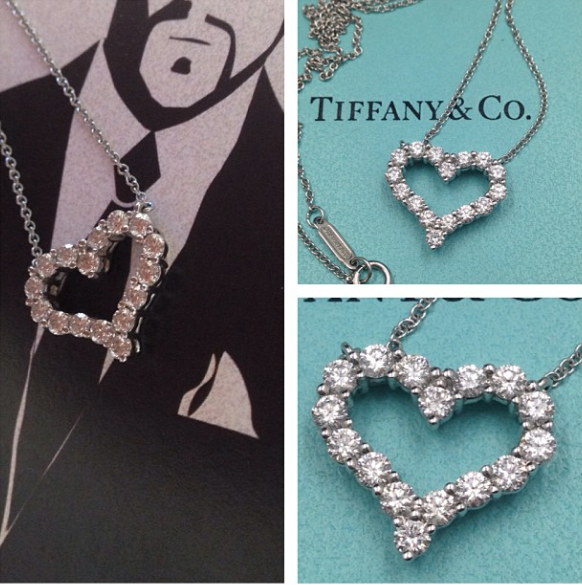 103113 sold tiffany co diamond heart pendant diamond guy hawaii tiffany co diamond heart pendant aloadofball Images