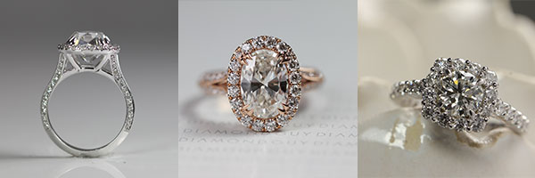 custom engagement rings - One Of A Kind Wedding Rings