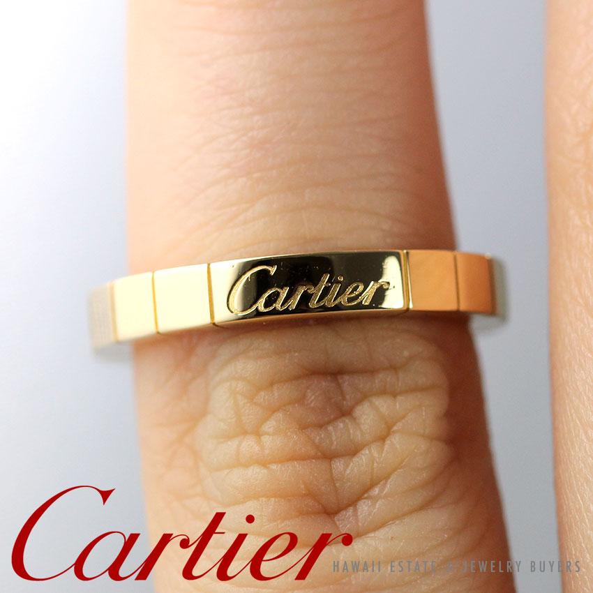 c012b1e560dfc Cartier Lanieres 18K Yellow Gold Ring Size 5.25